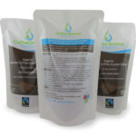 Organic Fairtrade Coffee Enema Solution - Light Golden Roast Pouch - 1 back - 2 front label - James Health 1000 Plus