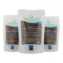 Organic Fairtrade Coffee Enema Solution - Light Golden Roast Pouch - 3 front - James Health 1000 Plus