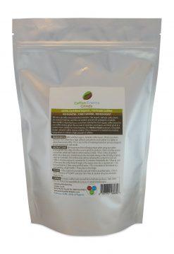 Organic Fairtrade Coffee Enema Grinds Medium Roast 400g back of pack view - Australia - James Health 1000 Plus -