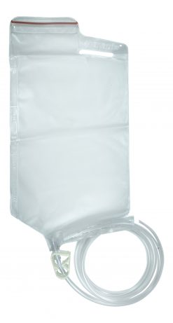 1.5 litre Disposable Enema Bag with easy measurements and flow clip - James Health 1000 Plus