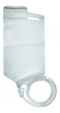 1.5 litre Disposable Enema Bag with easy measurements and flow clip - James Health 1000 Plus