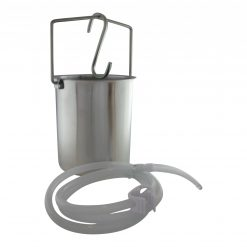 Quality Stainless Steel Enema Bucket - Coffee Water with silicone tube and s hook - Australia - James Health 1000 Plus