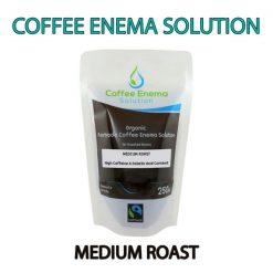 Organic Fairtrade Coffee Enema Solution - Medium Roast Pouch - James Health 1000 Plus
