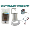 Steel Enema Bucket Coffee Enema Solution kit with temperature gauge and long flexible rectal tube