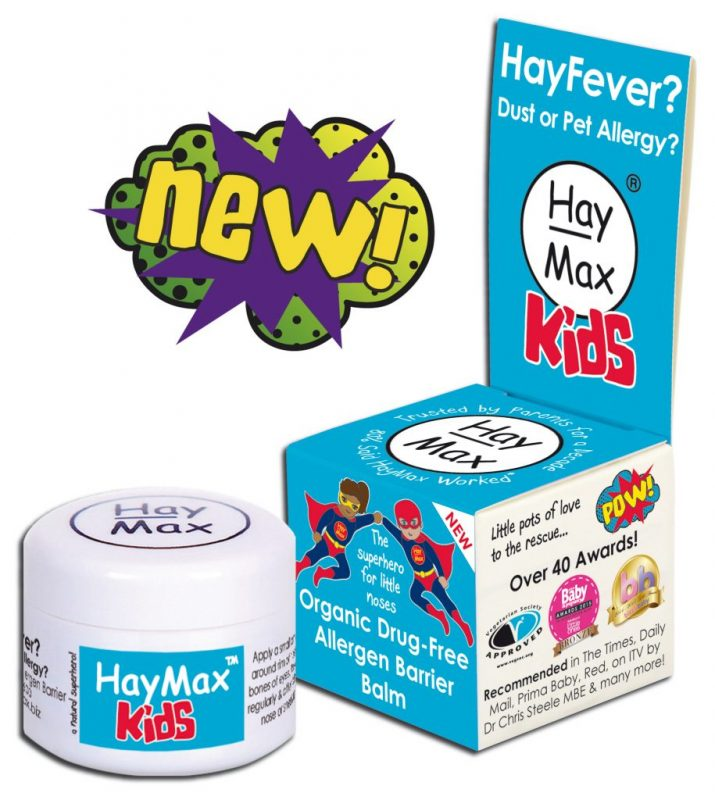 HayMax™ KIDS Organic Drug Free Hayfever Dust Pet Allergen Barrier Balm - Australia james health 1000 Plus