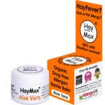 HayMax 5 ml Aloe Vera Organic Drug Free hayfever Allergen Barrier Balm - James Health 1000 Plus
