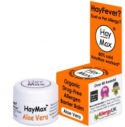 HayMax 5 ml Aloe Vera Organic Drug Free hayfever Allergen Barrier Balm - James Health 1000 Plus
