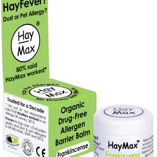 HayMax Frankincense Organic Drug Free Hayfever Allergen Barrier Balm - James Health 1000 Plus