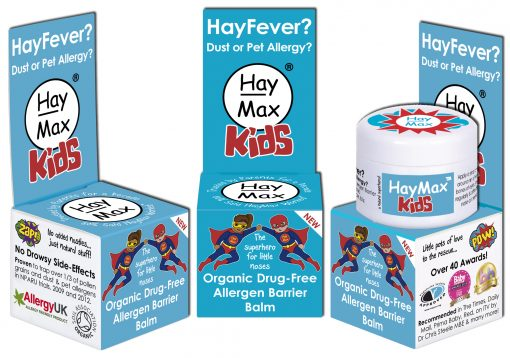 HayMax Organic Drug Free Hayfever Dust and Pet Allergen Barrier Balm Kids x 3 - Australia - James Health 1000 Plus