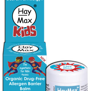 HayMax Organic Drug Free Hayfever Dust and Pet Allergen Barrier Balm Kids x 1 Front - Australia - James Health 1000 Plus
