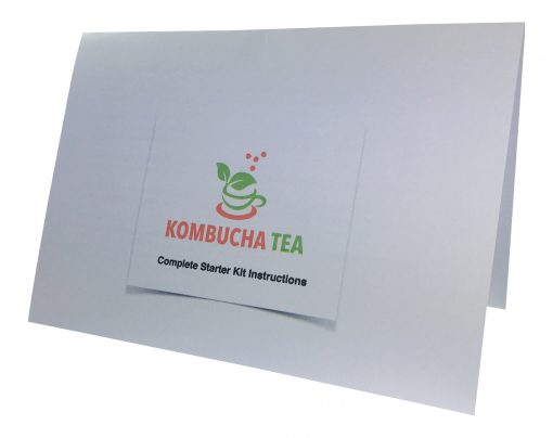 Kombucha Tea Complete Instructions for the Starter Kit James Health 1000 plus