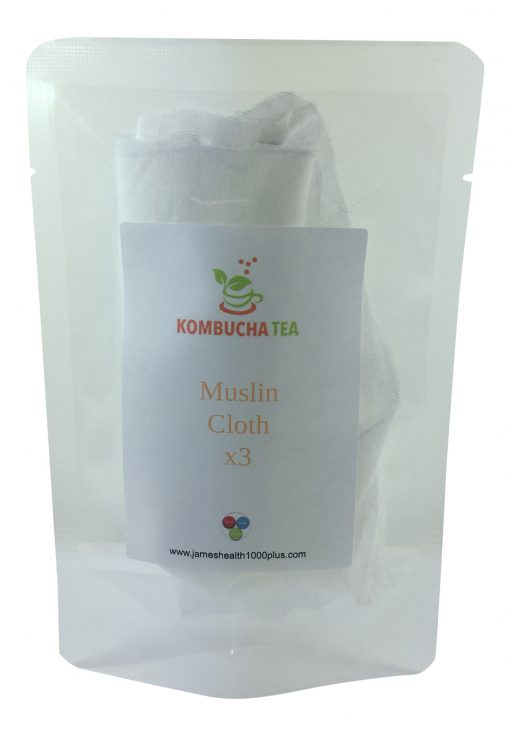 Muslin Cloth Kombucha Tea in Pouch James Health 1000 Plus