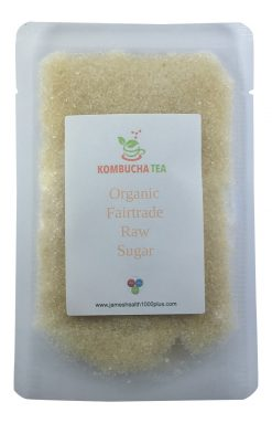 Kombucha Tea Organic Fairtrade Raw Sugar in pouch James Health 1000 Plus