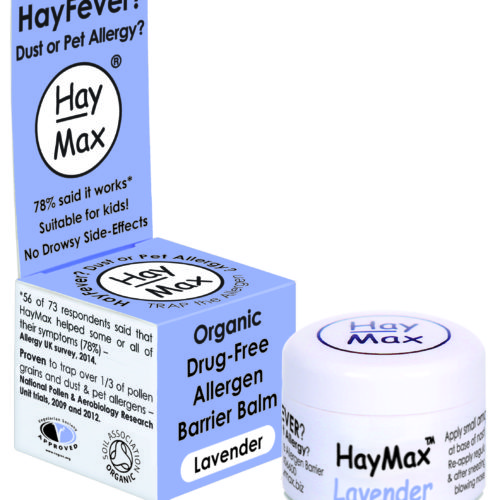 HayMax Organic Drug Free Hayfever Dust and Pet Allergen Barrier Balm Lavender - James Health 1000 Plus