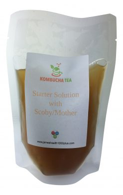 Mother Scoby in Pouch with Starter Solution Kombucha Tea James Health 1000 Plus